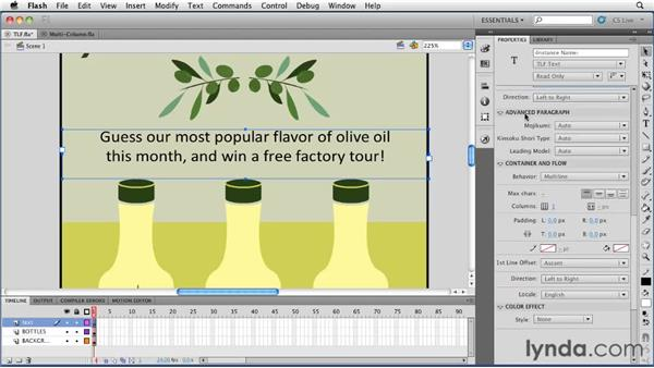 Using the new Text Layout Framework (TLF): Flash Professional CS5 New Features