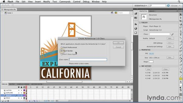 Integrating with Flash Builder: Flash Professional CS5 New Features