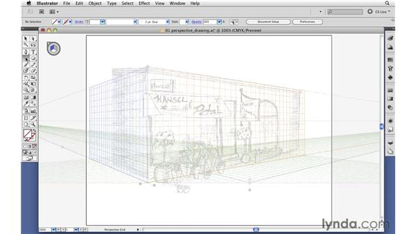 Drawing artwork in perspective: Illustrator CS5 New Features