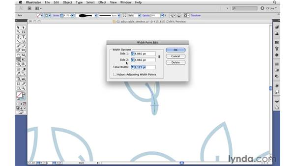 Creating variable-width strokes: Illustrator CS5 New Features