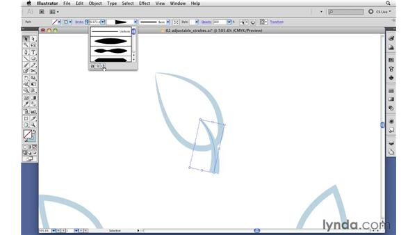 Using variable-width profiles: Illustrator CS5 New Features