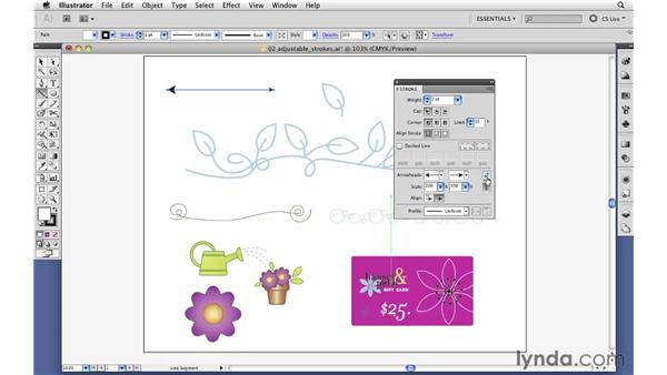 Easily adding arrowheads to strokes: Illustrator CS5 New Features