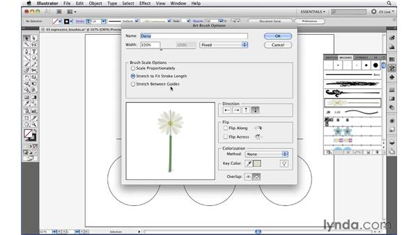 Using enhanced art and pattern brushes: Illustrator CS5 New Features
