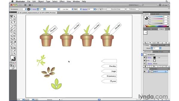 Working with symbols more easily: Illustrator CS5 New Features