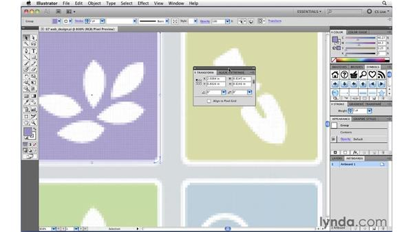 Creating pixel-perfect web graphics: Illustrator CS5 New Features