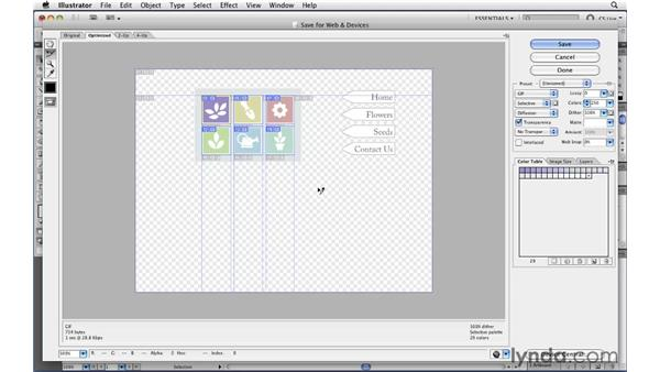 Quickly exporting individual slices: Illustrator CS5 New Features