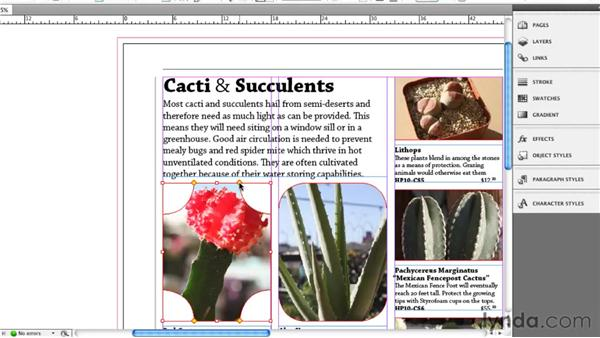 Learning the live corner effects: InDesign CS5 New Features
