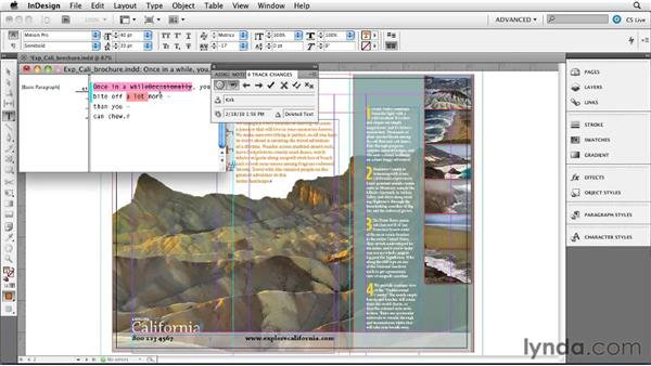 Managing tracked changes in a document: InDesign CS5 New Features