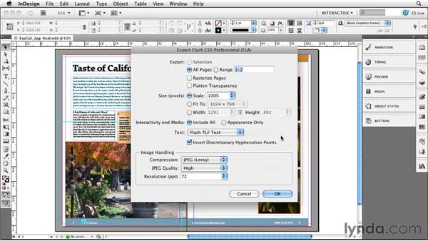 Exploring new FLA export options: InDesign CS5 New Features