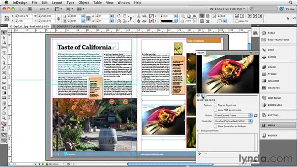 Using the Export to Interactive PDF command: InDesign CS5 New Features