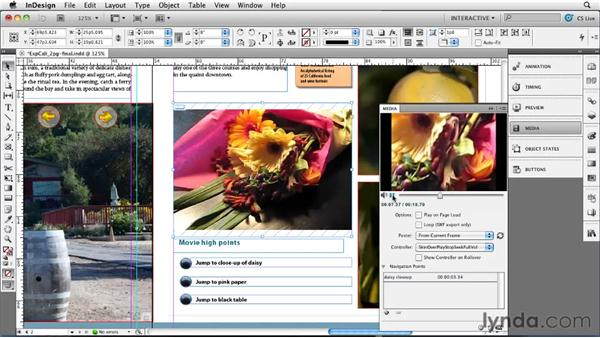 Creating and using navigation points: InDesign CS5 New Features