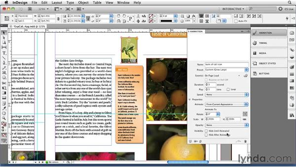 Animating objects with the Animation panel: InDesign CS5 New Features