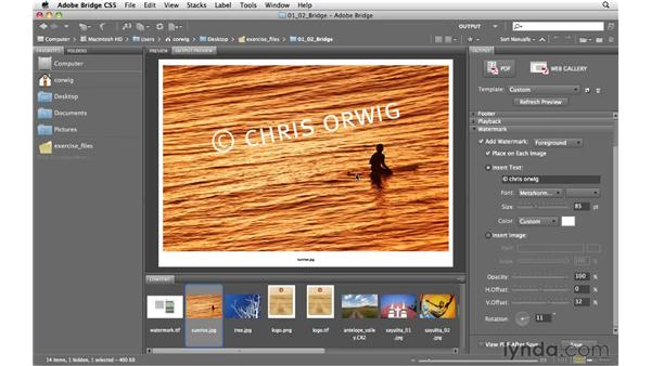 Adding a custom watermark to a PDF: Photoshop and Bridge CS5 for Photographers New Features