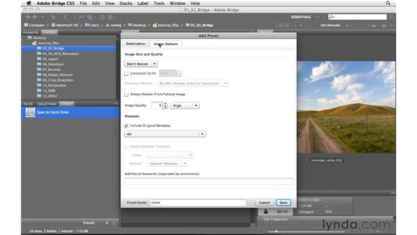 Using the new Export panel: Photoshop and Bridge CS5 for Photographers New Features