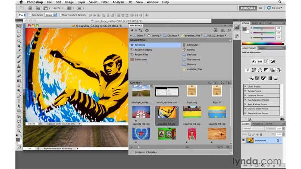 Opening documents: Photoshop and Bridge CS5 for Photographers New Features