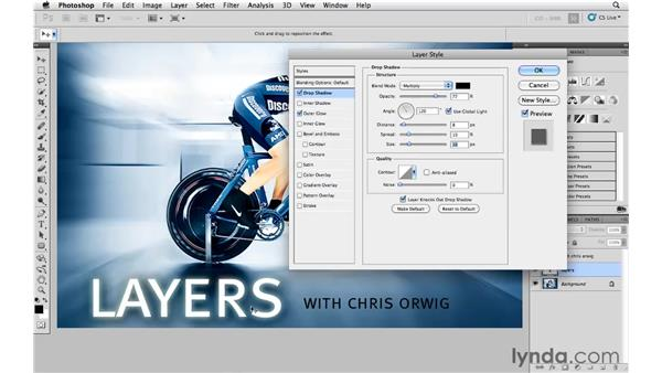 Adjusting layer style effects on multiple layers at once: Photoshop and Bridge CS5 for Photographers New Features