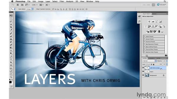 Modifying multiple layers at once: Photoshop and Bridge CS5 for Photographers New Features