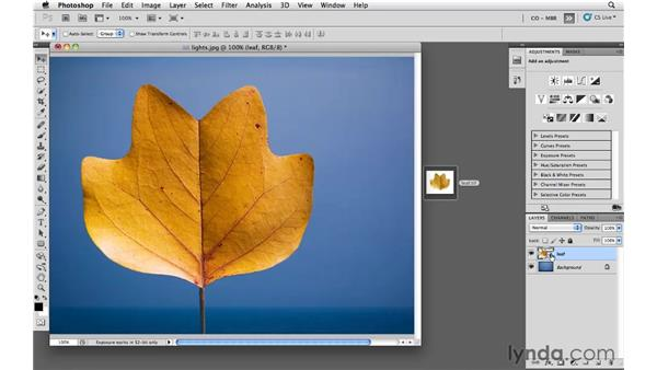 Dragging content into Photoshop as a Smart Object: Photoshop and Bridge CS5 for Photographers New Features