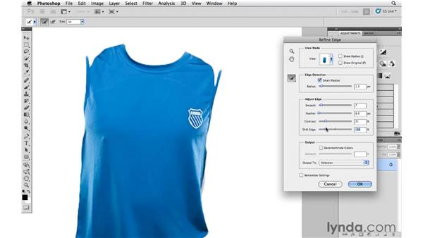 Changing the colors of a shirt: Photoshop and Bridge CS5 for Photographers New Features