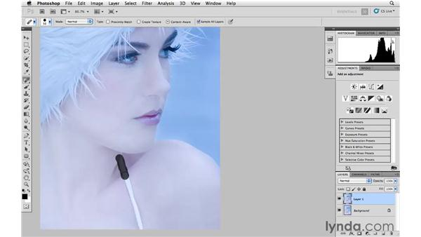 Content-aware spot healing: Photoshop and Bridge CS5 for Photographers New Features