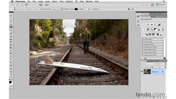 Cropping and straightening a photograph: Photoshop and Bridge CS5 for Photographers New Features