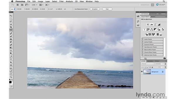 Auto-straightening a photograph: Photoshop and Bridge CS5 for Photographers New Features