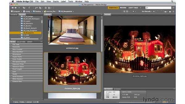 Accessing lens correction: Photoshop and Bridge CS5 for Photographers New Features