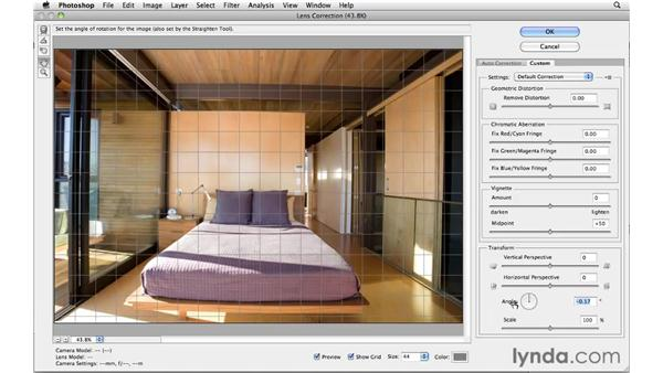 Customizing lens distortion removal: Photoshop and Bridge CS5 for Photographers New Features