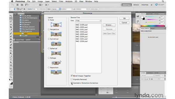 Panoramic lens correction: Photoshop and Bridge CS5 for Photographers New Features