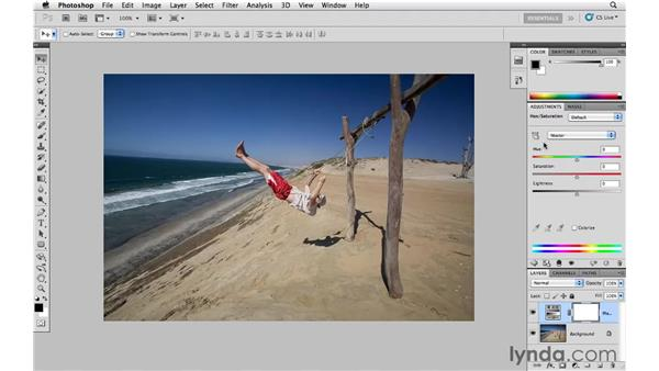 Working with the Target Adjustment tool: Photoshop and Bridge CS5 for Photographers New Features