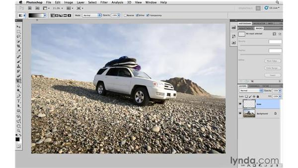 Creating a neutral density gradient: Photoshop and Bridge CS5 for Photographers New Features