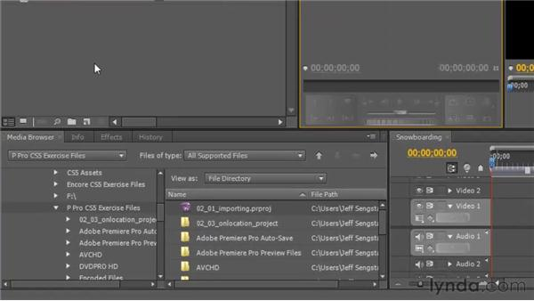 Importing footage from OnLocation: Premiere Pro CS5 New Features