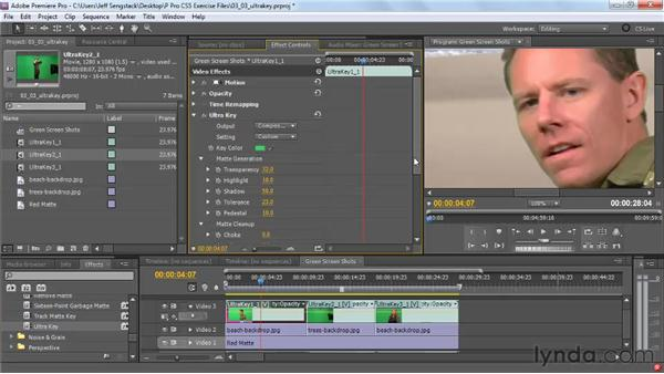 Working with the new Ultra Key effect: Premiere Pro CS5 New Features