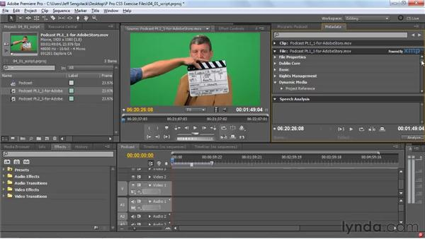 Understanding the script-to-screen workflow: Premiere Pro CS5 New Features