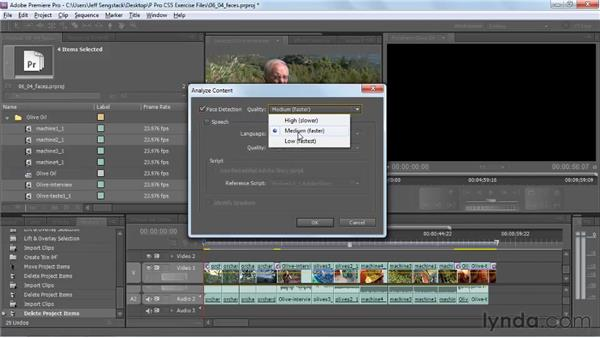 Using face detection to locate clips: Premiere Pro CS5 New Features