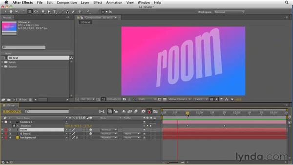 Working with 3D and text in CS5: After Effects CS5 New Features
