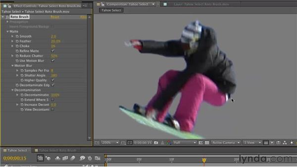 Refining a matte: After Effects CS5 New Features