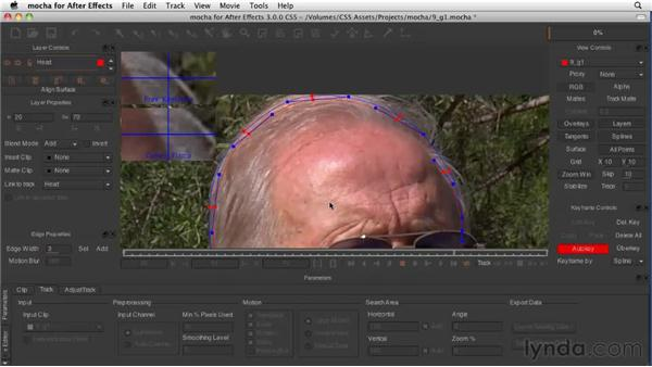 Refining a mocha mask in After Effects: After Effects CS5 New Features