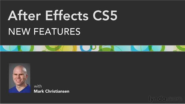 Goodbye: After Effects CS5 New Features