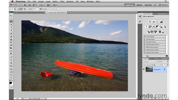 Working with content-aware fill: Photoshop CS5 New Features