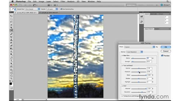 Using faux HDR toning: Photoshop CS5 New Features