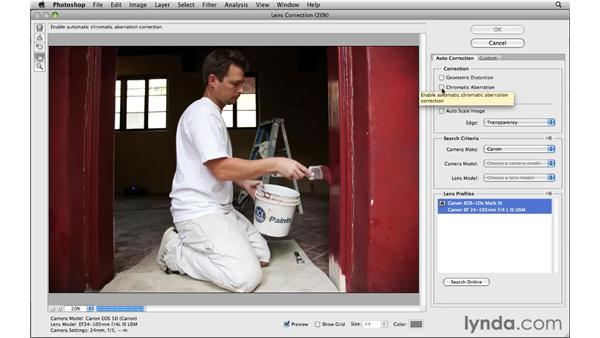 Working with the new lens correction enhancements: Photoshop CS5 New Features