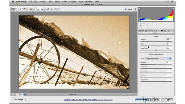 Additive grain: Photoshop CS5 New Features