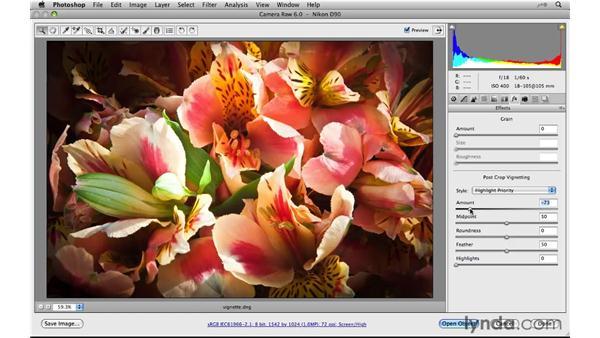 Reviewing Post-Crop Vignetting enhancements: Photoshop CS5 New Features