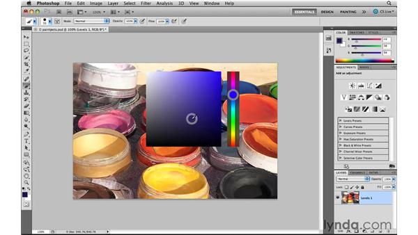 Using the HUD color picker: Photoshop CS5 New Features