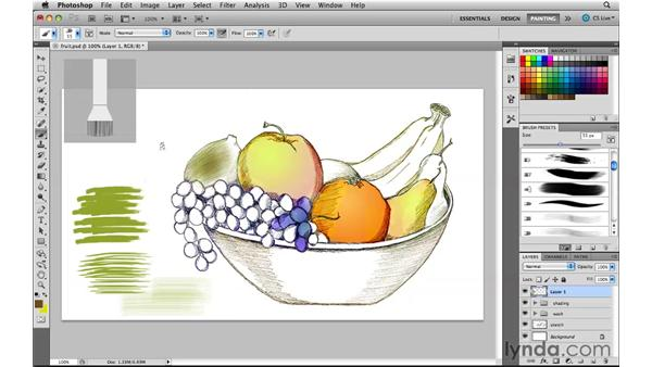 Working with the new bristle brush tips: Photoshop CS5 New Features