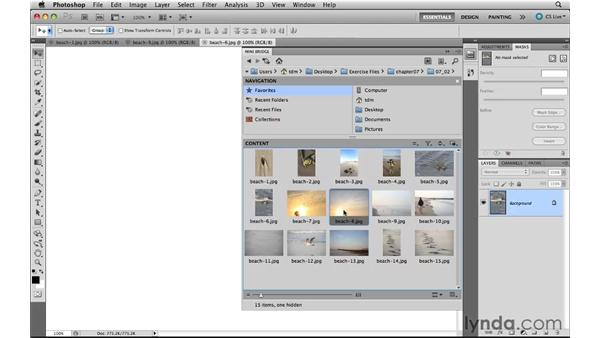 Opening files from Mini Bridge in Photoshop: Photoshop CS5 New Features