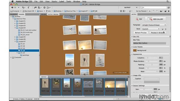 Reviewing the output module improvements: Photoshop CS5 New Features