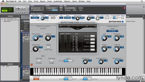 Understanding the interface: Pro Tools Projects: Pitch Correction with Antares Auto-Tune Evo