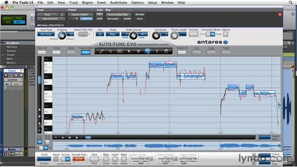 Working in Graphical mode: Pro Tools Projects: Pitch Correction with Antares Auto-Tune Evo